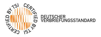 CERTIFIED BY TSI - DEUTSCHER VERBRIEFUNGSSTANDARD